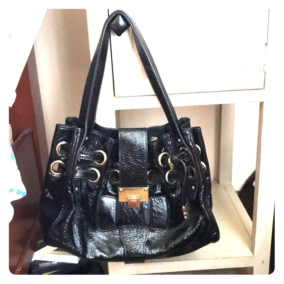 Jimmy Choo Patent Leather Riki Bag